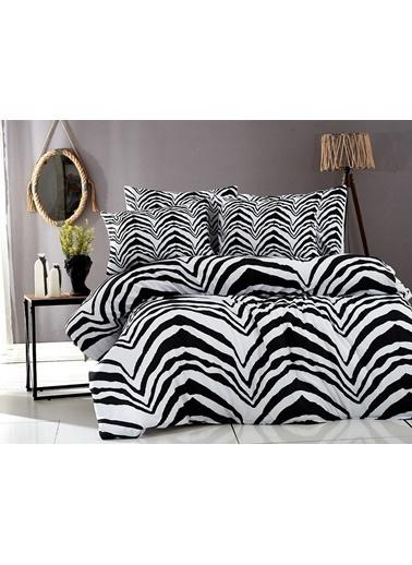 Bayev Zebra Çift Kişilik Ranforce Nevresim Takımı Renkli